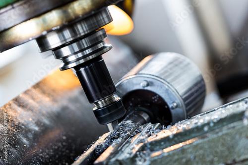 Carta da parati  drilling machine in factory workshop