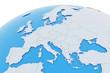 canvas print picture - Erde Europa Länder - hellgrau blau