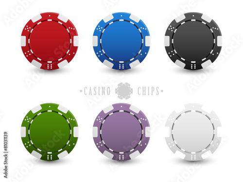 Fotografie, Obraz  Set of casino chips