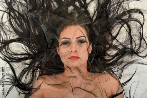 woman scared