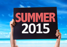 Summer 2015 Card With Beach Background