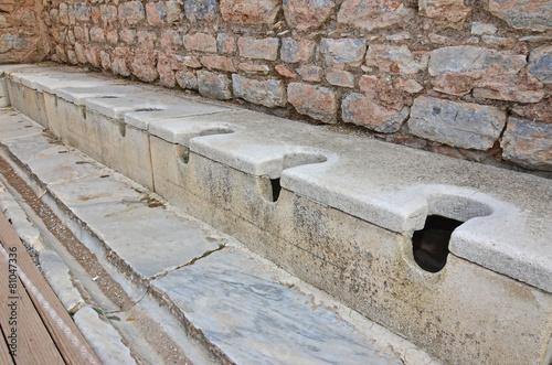 Photo  Ancient Roman Toilets