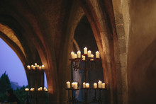 Candles In An Ancient Castle