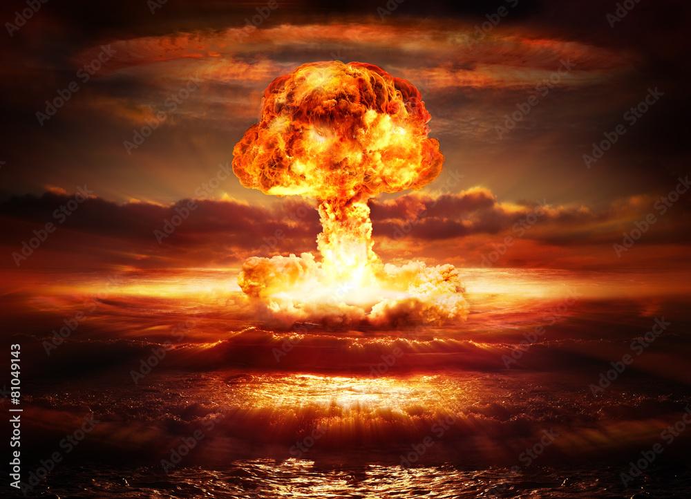 Láminas Explosión de una bomba nuclear en el océano | Europosters.es