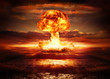 canvas print picture - explosion nuclear bomb in ocean