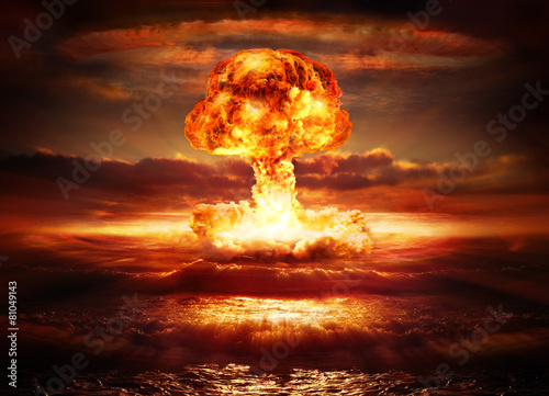 explosion nuclear bomb in ocean Wallpaper Mural