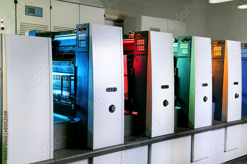 Fotografía  Machines for printing on a printing press