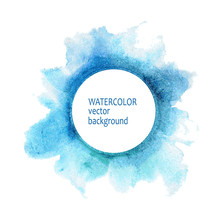 Watercolor Circle Hand Paint O...