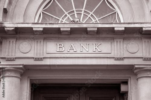 Fototapeta Bank Sign obraz