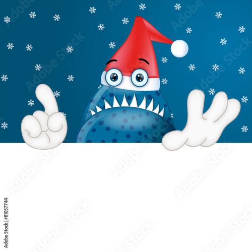 Fotografie, Obraz  Monster Garry Christmas Xmas placeholder funny cartoon