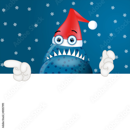 Fotografie, Obraz  Monster Garry Christmas Xmas placeholder funny cartoon
