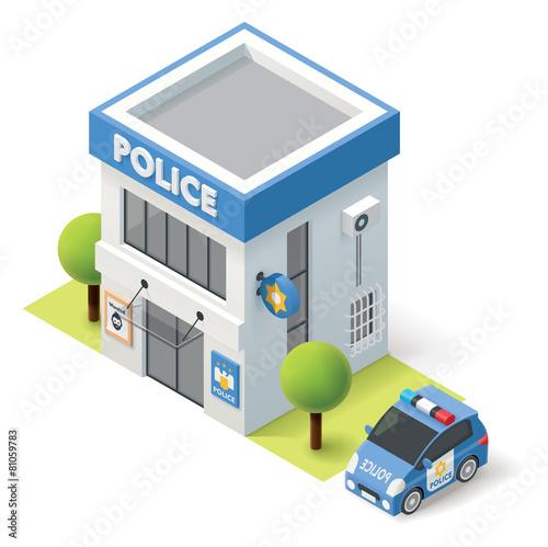 Fotografía  Vector isometric police department