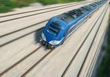 Intercity train in motion
