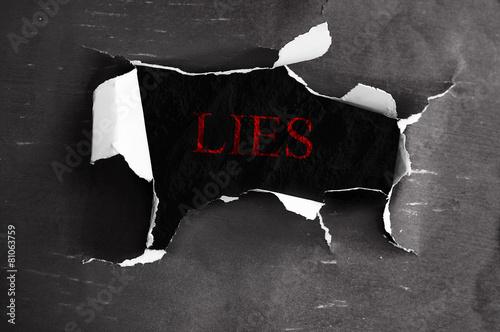Vászonkép Lies revealed