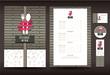 Restaurant or cafe menu vector design template vintage style