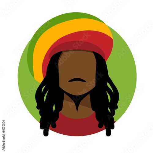 Photo  Rastafarian man.