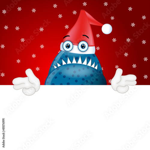 Fotografie, Obraz  Monster Garry advertising space placeholder funny christmas xmas