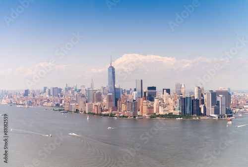 Downtown Manhattan, helicopter view