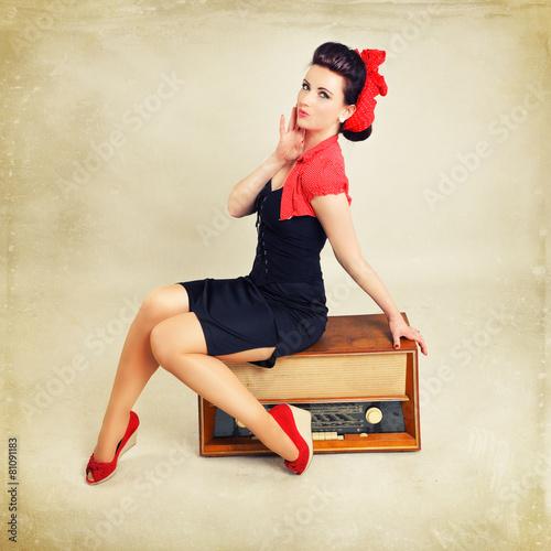 Photo  Pinup Girl Musik Radio