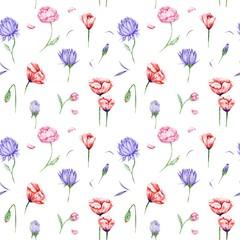 FototapetaWatercolor Floral Pattern