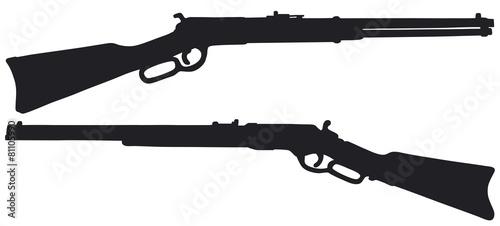 Fotografia Old american rifles, vector illustration, hand drawing