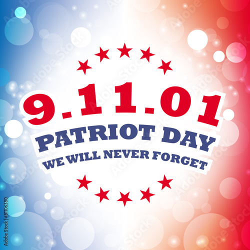 Poster  september 11 2001 - patriot day greeting card