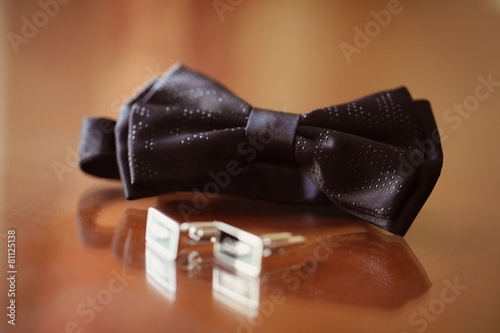 фотография  Elegant and special bowtie and buttons for a man