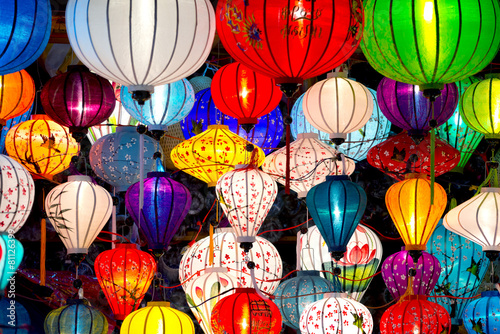 Photo  Traditional lamps in Old Town Hoi An, Vietnam.