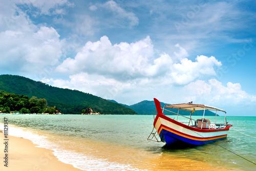 Fotografie, Obraz  Beach Scene in Penang, Malaysia