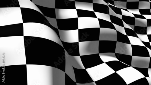Checkered Flag. 3D. Checkered Flag Macro