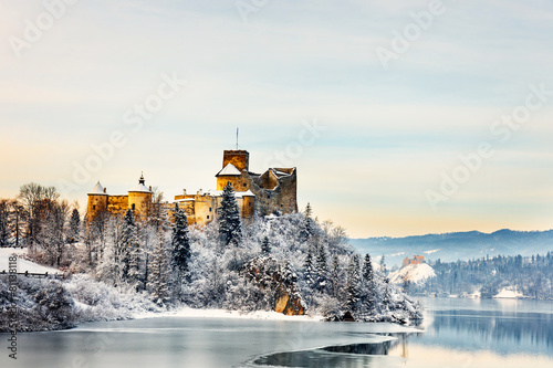plakat Beautiful view of Niedzica Castle, Poland