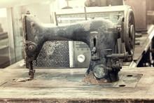 Retro Old Sewing Machine