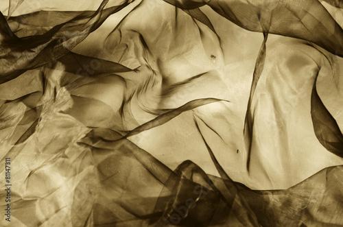 organza fabric in sepia