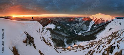 Photo Stands Night blue Sunrise in mountain - Slovakia Fatra