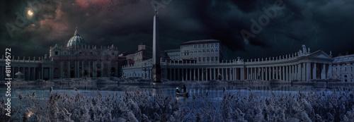 Fototapeta Apocaliptical scene to Saint Peter Square in Rome