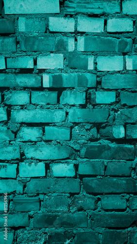 Obrazy turkusowe  old-brick-background
