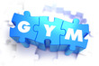 Gym - White Word on Blue Puzzles.