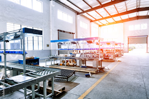 Fotografia factory workshop interior and machines
