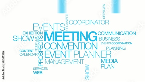 Meeting convention event planner word tag cloud events #81169940