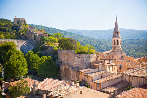 View of Saint Saturnin d Apt, Provence, France Canvas Print