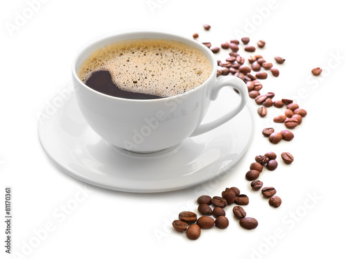 Fotografie, Obraz  Cup of coffee isolated on white