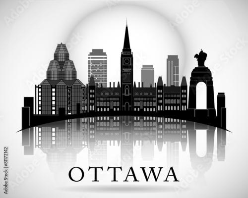 Modern Ottawa City Skyline Design. Canada