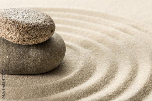 Foto op Aluminium Stenen in het Zand zen stones
