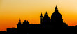 Leinwandbild Motiv Sunset over the Basilica Santa Maria della Salute