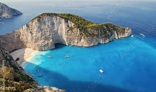 Photo Shipwrech at Navagio beach, Zakinthos, Zante, Zakynthos