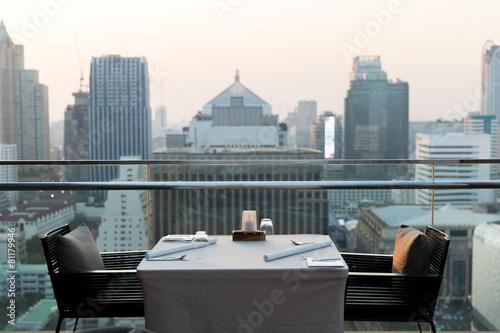 Photo  restaurant lounge at hotel in bangkok city