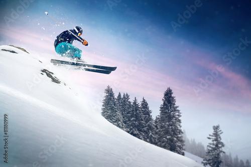 Fotobehang Wintersporten Ski Jump