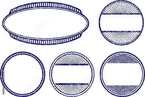set of five vector grunge style templates for rubber stamps buy