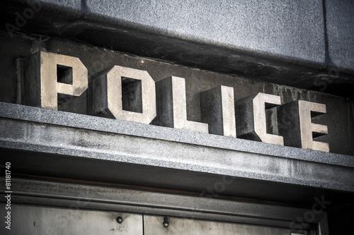Fotografía  Police sign