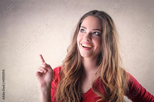 Photographie  Bonne fille souriante